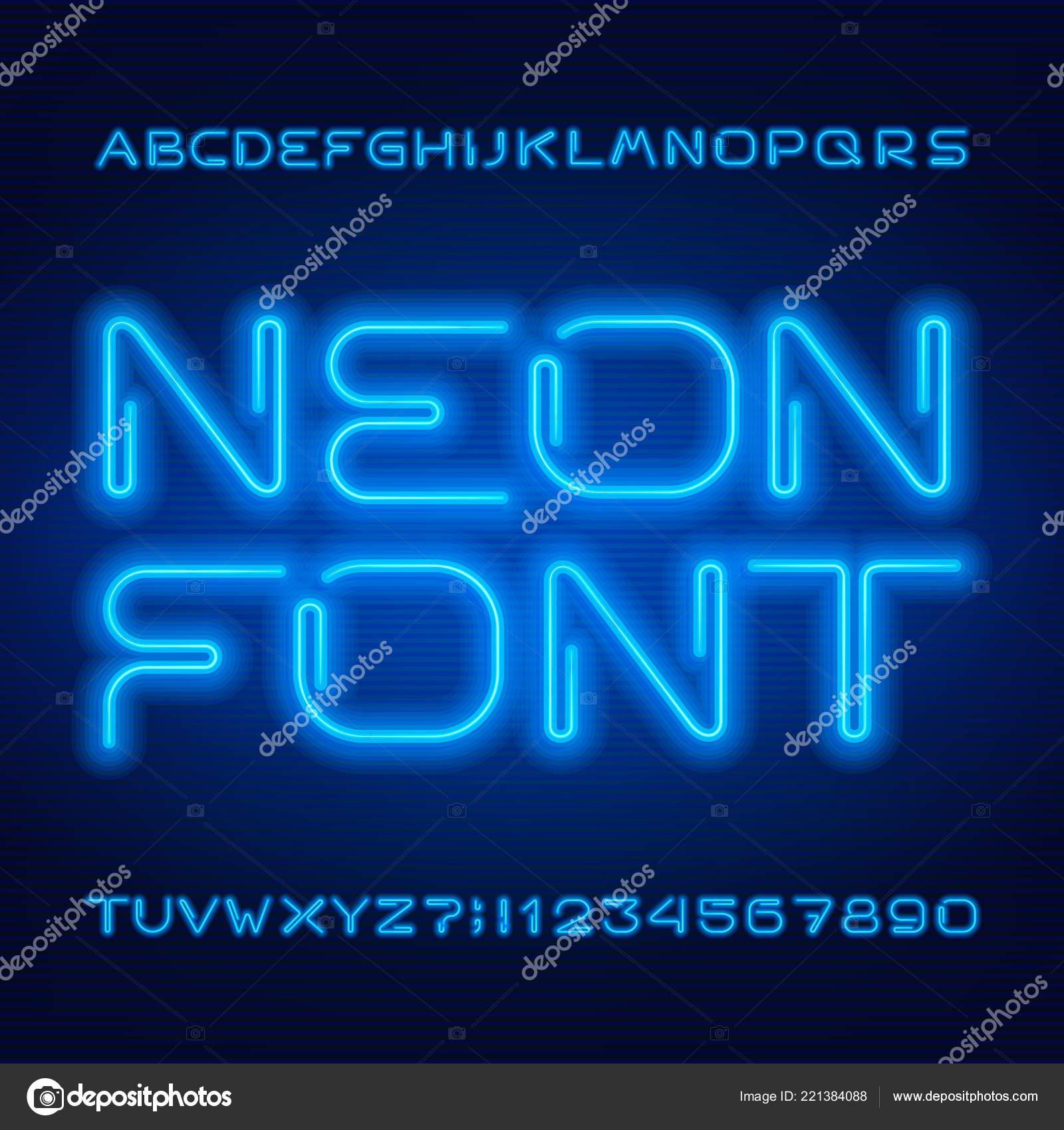 Neon letters font