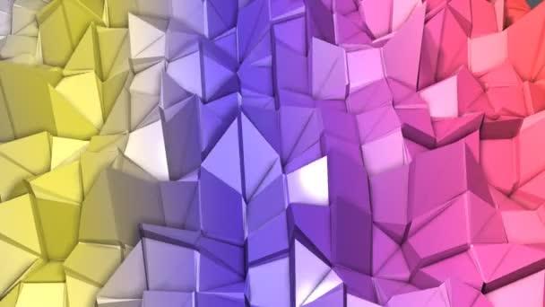 langsam bewegender polygonaler Hintergrund mit niedrigem Polygonanteil. 3D-Darstellung
