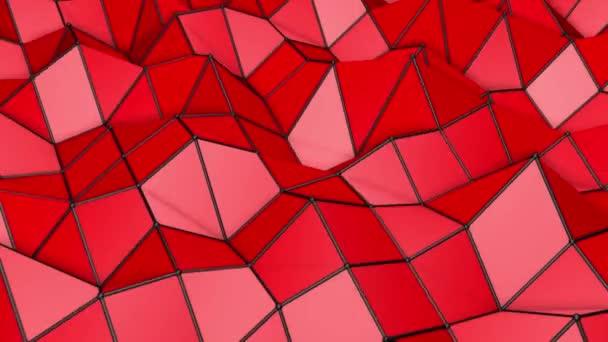nízké polygonální abstraktní pozadí. deformující letadlo. 3D vykreslování