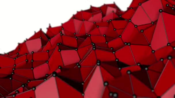 low polygonal abstract background. deforming plane. 3D rendering