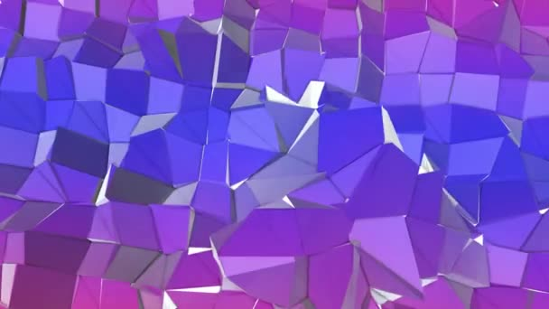 deforming low-polygonal plane. abstract background. 3D rendering