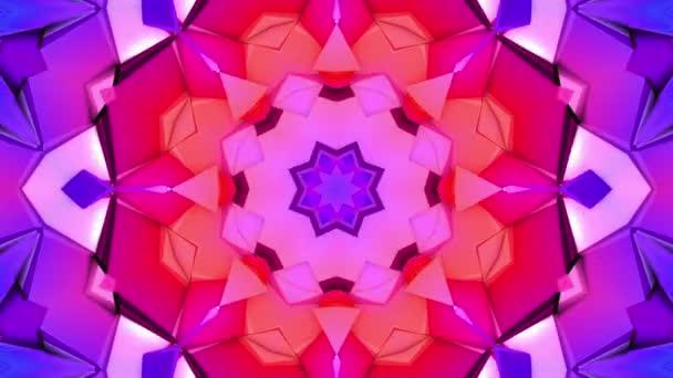 abstraktní pozadí trojrozměrné kaleidoskop. 3D vykreslování