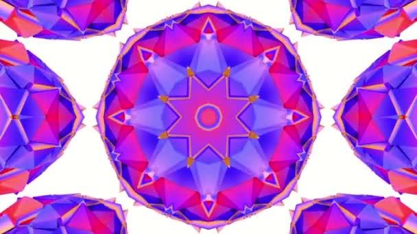 absztrakt háttér háromdimenziós Kaleidoszkóp. 3D-leképezés