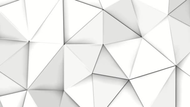 white deforming three-dimensional background. low poly abstraction. 3D rendering