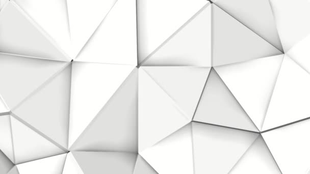 weißer verformender dreidimensionaler Hintergrund. Low Poly Abstraktion. 3D-Darstellung