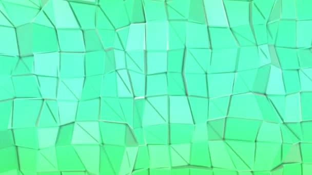 deformující nízko polygonálním letadlo. abstraktní pozadí. 3D vykreslování