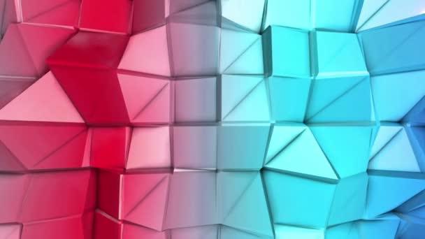 tarka alacsony-sokszög felület deformációja lassan mozog. absztrakt háttér. 3D-leképezés