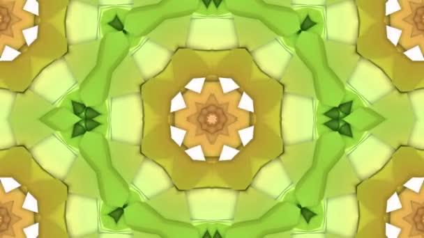 vícebarevné trojrozměrný vzor z hvězdy postavy pomalu se pohybující. abstraktní pozadí kaleidoskop. 3D vykreslování