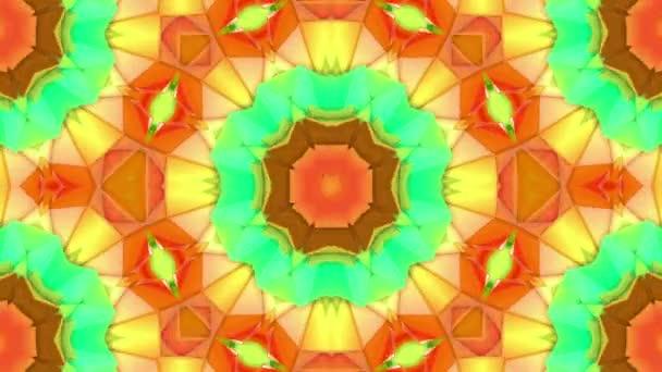 tarka térbeli mintával, lassan mozgó csillag adatokból. absztrakt háttér Kaleidoszkóp. 3D-leképezés