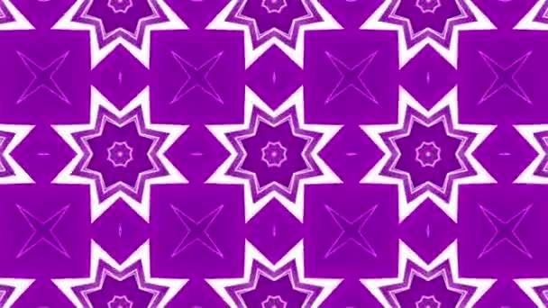 Lila absztrakt Kaleidoszkóp háttér. geometriai alakzatok. 3D-leképezés