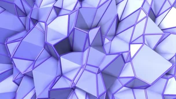 kék absztrakt animált háttér. alacsony poly felület deformálódott. 3D-leképezés