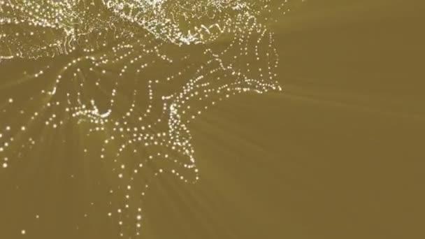 animovaný trojrozměrný částice. futuristické abstraktní kompozice. 3D vykreslování