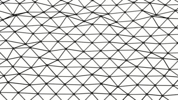 černá animovaný atomové mřížky. Animované pozadí abstraktní. 3D vykreslování
