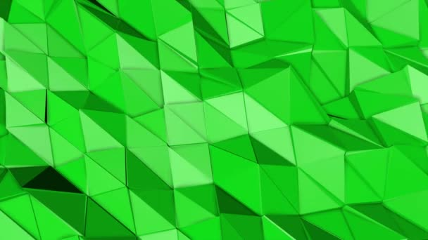 green animated low poly background. 3d rendering