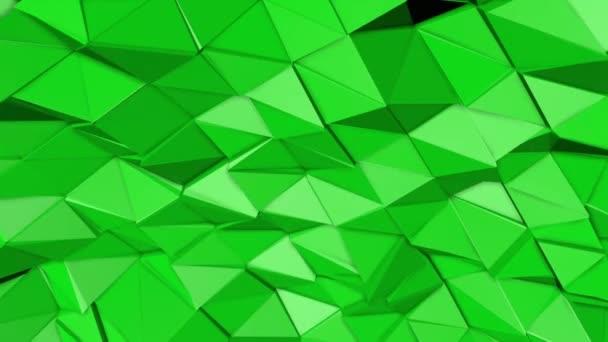 zelená animovaný nízké poly pozadí. 3D vykreslování