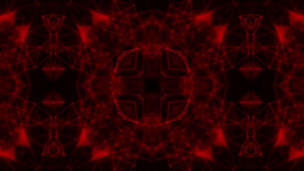 animovaný kaleidoskop vzory. abstraktní pozadí. 3D vykreslování