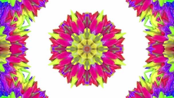 Animovaný vícebarevný vzor. abstraktní pozadí kaleidoskop. 3D vykreslování