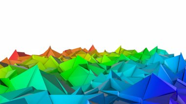 abstract three-dimensional plane of iridescent color. 3d render