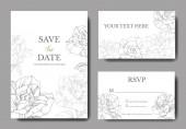 Fehér lapot, a rózsaszirom. Esküvői meghívók, virágos dekoratív vésett tinta művészet. Köszönöm, rsvp, pályázati elegáns kártya illusztráció grafikus beállítása bannerek.