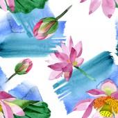 Gyönyörű lila virágok elszigetelt fehér. Akvarell háttér illusztráció. Akvarell, akvarell. Varratmentes háttérben minta. Anyagot a nyomtatási textúrát