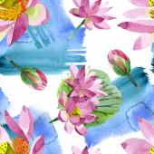 Fényképek Gyönyörű lila virágok elszigetelt fehér. Akvarell háttér illusztráció. Akvarell, akvarell. Varratmentes háttérben minta. Anyagot a nyomtatási textúrát
