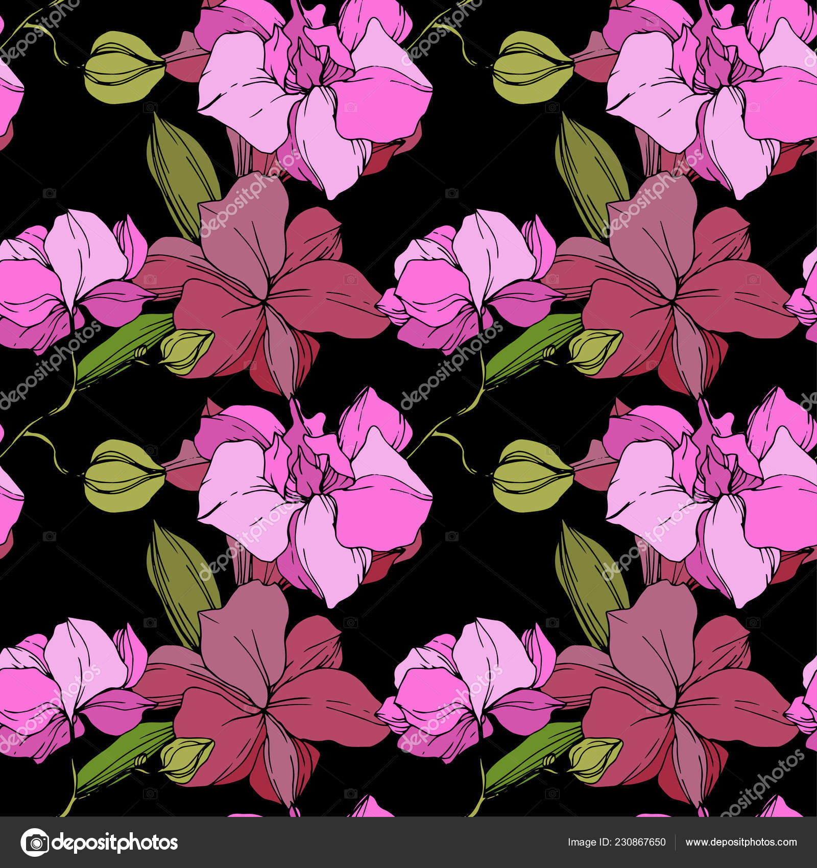 Orchid Hd Wallpaper Beautiful Pink Orchid Flowers Seamless