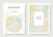 Vektor růžové květy. Svatební oznámení s květinovou hranice. Děkuji, rsvp, pozvání elegantní karty ilustrace grafický set