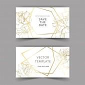 Vektor. Arany Rózsa virágok a kártyákat. Esküvői meghívók, arany szegéllyel. Köszönöm, rsvp, pályázati elegáns kártya illusztráció grafikai készlet. Vésett tinta art.