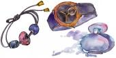 Módní doplňky izolované ilustrace v akvarelu stylu