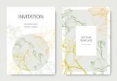 Vektor Orchideen. Tuschebilder. Hochzeitshintergrundkarten mit dekorativen Blumen. Einladungskarten grafisches Set Banner.
