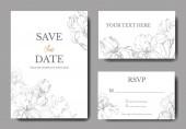 Vektor íriszek. Vésett tinta art. Esküvői meghívók, dekoratív virág, a háttérben. Mentés időpontjában, rsvp, meghívó kártya grafikus banner beállítása.