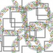 Květinová sada akvarel zázemí ilustrace. Vzor bezešvé pozadí. Fabric tapety tisku textura.