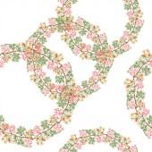 Színes virág botanikai dísz. Akvarell illusztráció készlet. Varratmentes háttérben minta. Anyagot a nyomtatási textúrát.