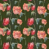 Červeného máku květinové botanické květin. Divoký jarní list. Sada akvarel ilustrace. Akvarel, samostatný výkresu módní aquarelle. Vzor bezešvé pozadí. Fabric tapety tisku textura.