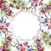 Fényképek Csokorkészítés virág botanikai virág. Vad tavaszi levél vadvirág elszigetelt. Akvarell háttér illusztráció készlet. Akvarell rajz divat aquarelle elszigetelt. Test határ Dísz tér