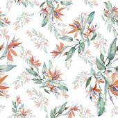 Csokorkészítés virág botanikai virág. Vad tavaszi levél elszigetelt. Akvarell háttér illusztráció készlet. Akvarell rajz divat aquarelle. Varratmentes háttérben minta. Anyagot a nyomtatási textúrát.