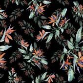 Kytice květinové botanické květin. Divoký jarní listové izolované. Sada akvarel pozadí obrázku. Akvarel výkresu módní aquarelle. Vzor bezešvé pozadí. Fabric tapety tisku textura.