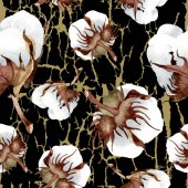 Bavlny květinové botanické květin. Divoký jarní listové izolované. Sada akvarel ilustrace. Akvarel, samostatný výkresu módní aquarelle. Vzor bezešvé pozadí. Fabric tapety tisku textura.