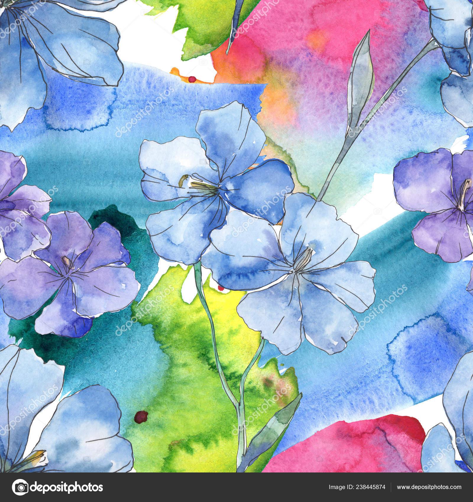 Modre Fialove Lnene Kvetinove Botanicke Kvetina Divoky Jarni Listove