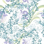 Blue iris floral botanical flower. Wild spring leaf isolated. Watercolor illustration set. Watercolour drawing fashion aquarelle. Seamless background pattern. Fabric wallpaper print texture.