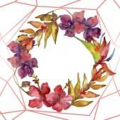 Elszigetelt fehér virágok. Akvarell háttér illusztráció készlet. Test határ dísz a másol hely.