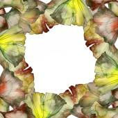Zöld és sárga ginkgo biloba lombozat akvarell háttér illusztráció meg. Test határ dísz a másol hely.