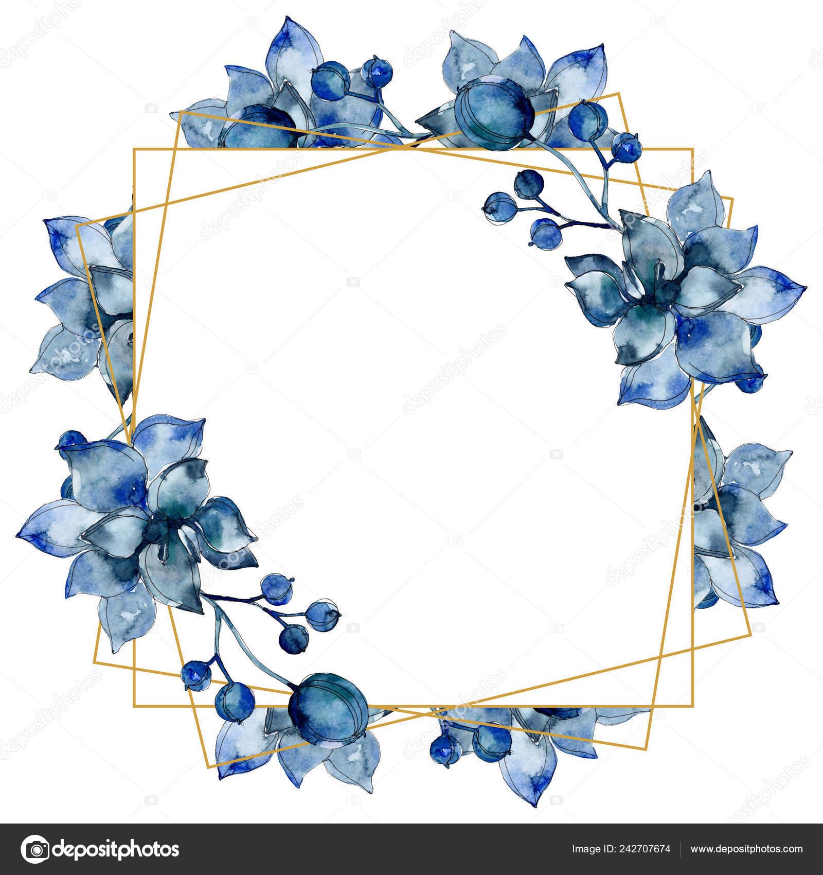 Succulent Botanical Flowers Watercolor Background Illustration Set Frame Border Ornament Stock Photo Image By C Andreyanush 242707674