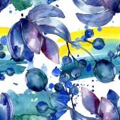 Zamatos botanikai virágok. Akvarell illusztráció készlet. Varratmentes háttérben minta. Anyagot a nyomtatási textúrát.