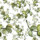 Fotografie Exotické tropické havajské botanické sukulenty. Sada akvarel ilustrace. Vzor bezešvé pozadí. Fabric tapety tisku textura