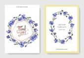 Vektor kék len botanikai virág virág. Vad tavaszi levél vadvirág elszigetelt. Vésett tinta art. Esküvői háttér kártya virágos dekoratív határok. Elegáns kártyával ábrán grafikus banner beállítása.