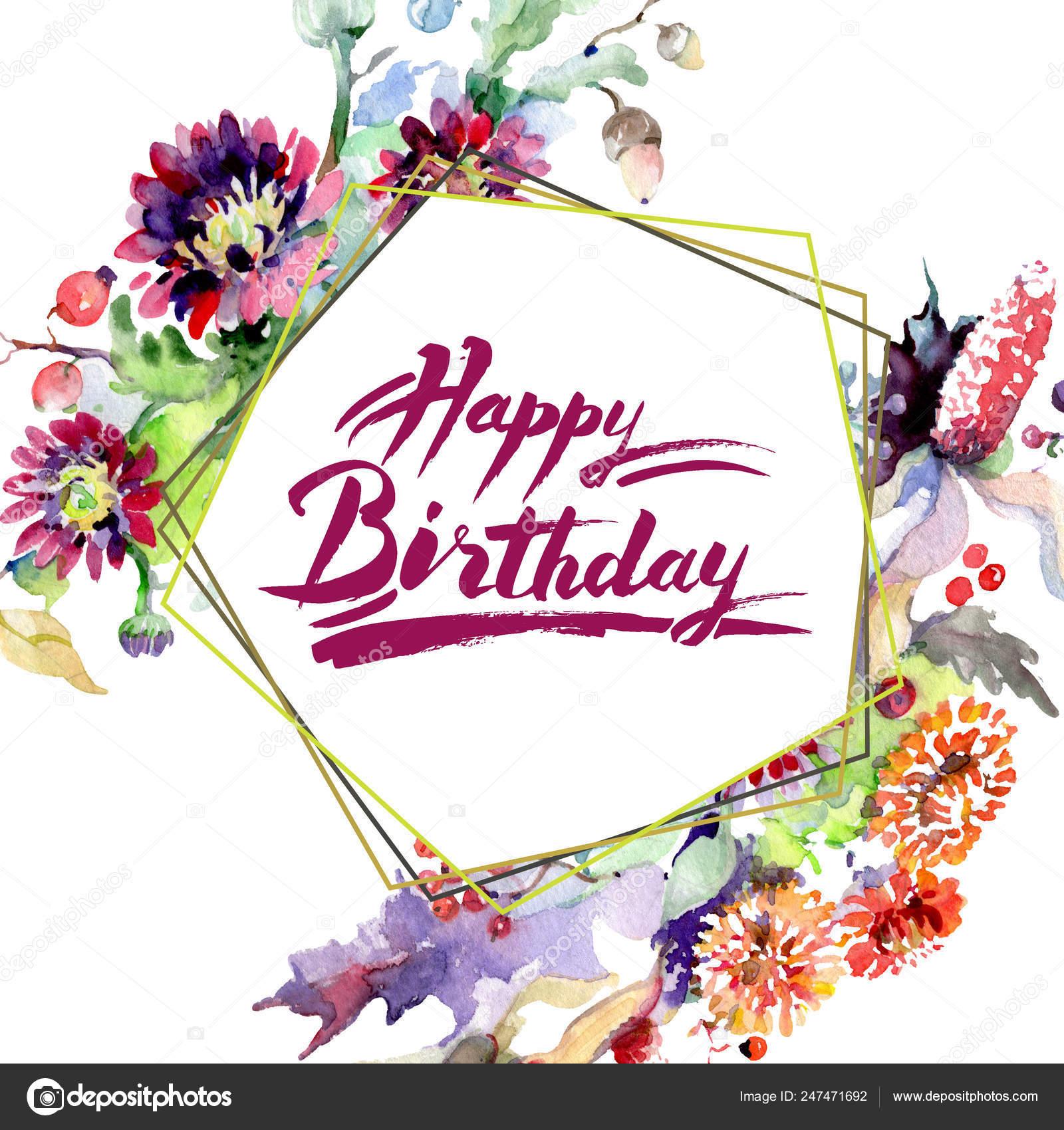 Happy Birthday Flowers Pictures Images Stock Photos Depositphotos