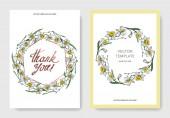 Vektor elegantní svatební pozvánky s bílým Narcis květy ilustrační. Ryté inkoust umění.