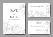 Vektorové Orchidety. Žluté a fialové vyřezávané umělecké dílo. Svatební karty. Pohlednice s elegantní grafickou kartou.