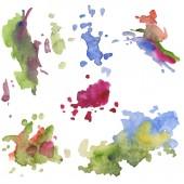 Fotografie Abstraktní akvarel papír úvodní tvary, samostatný výkres. Aquarelle obrázku pro pozadí.